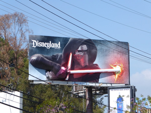 Star Wars Kylo Ren 3D lightsaber Disneyland billboard