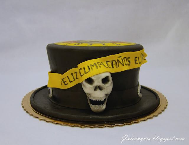 Tarta sombrero de Slash guns n roses