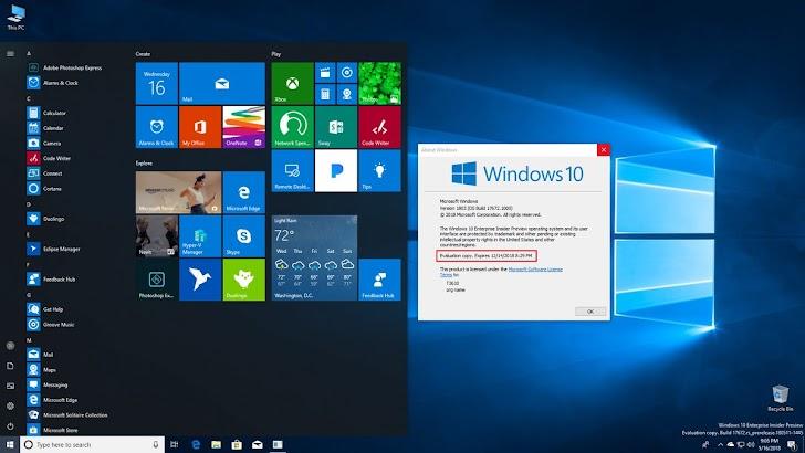 Windows 10 Insider Preview Build 17672 Dirilis Untuk Fast Ring dan Skip Ahead