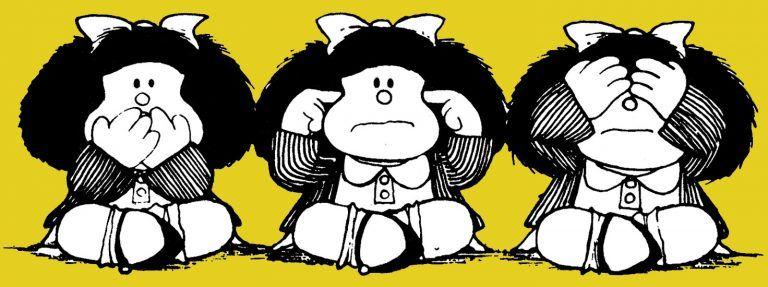 Mafalda, no ver, no oír, no decir