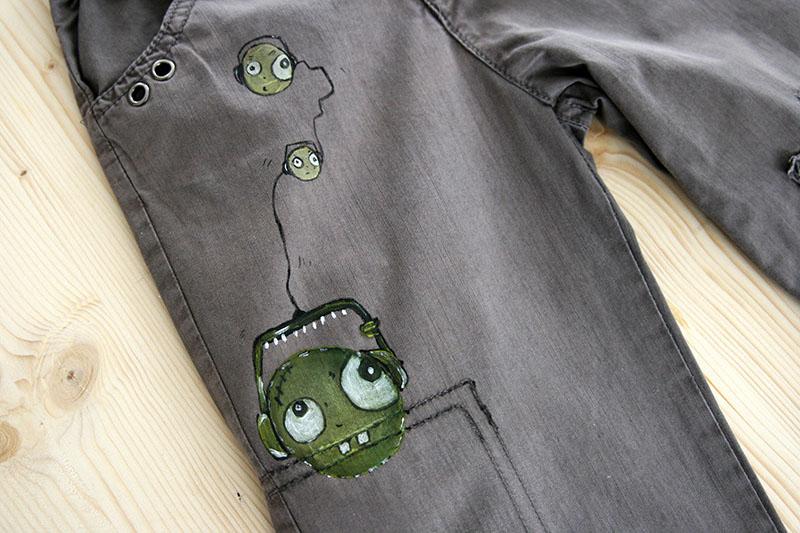 astuce customiser un pantalon t ch d 39 huile. Black Bedroom Furniture Sets. Home Design Ideas