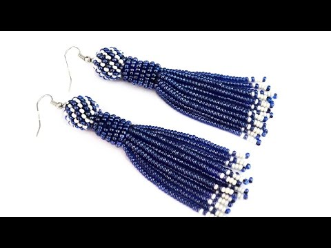 Beaded Tel Earrings Tutorial Uses Ribbon To Make A Fringe