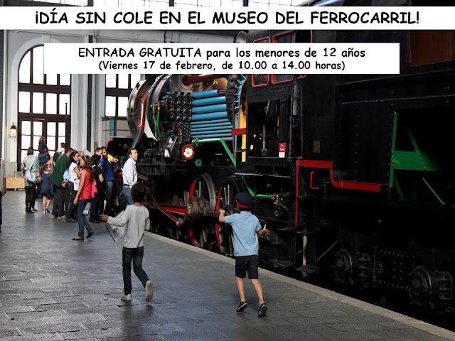 Día sin cole en el Museo del Ferrocarril con entrada gratuita