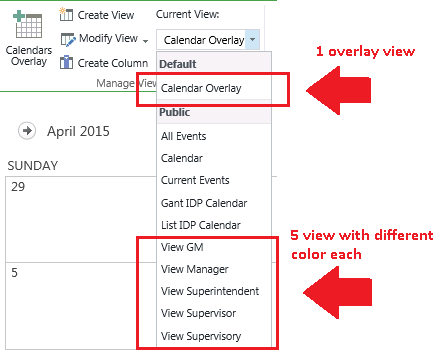 SharePoint 2013 Calendar Overlay Color