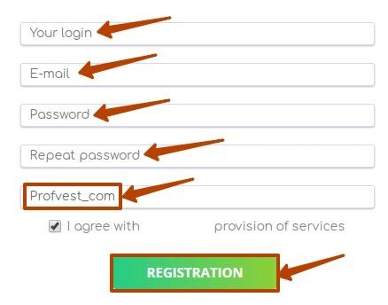 Регистрация в Zedsen 2