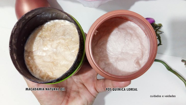 Macadamia Natural Oil e Absolut Repair Pós Química Loreal