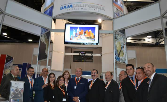 Carlo Bonfante Olache, secretario de Desarrollo Económico de Baja California, al inaugurar la expo Advanced Manufacturing Meetings. (Foto: VI)