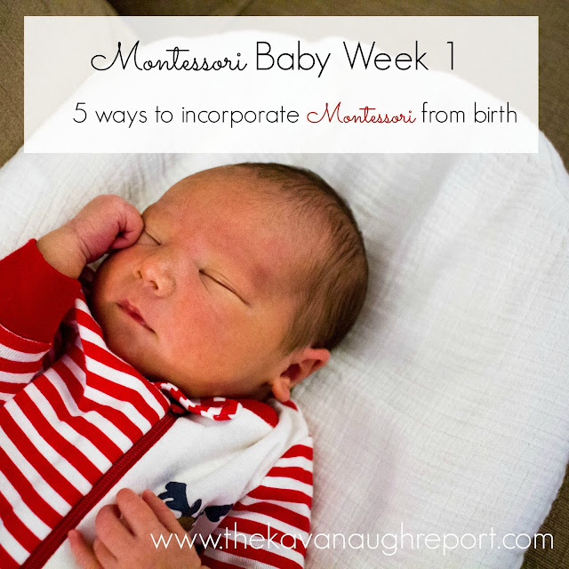 Montessori is a lifestyle that can be introduced when a baby is born! Here are 5 ways to incorporate Montessori from birth.
