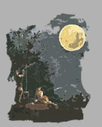 Landschaft und Mond Volkslieder Gedichte