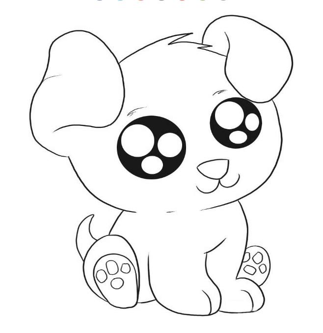 Kumpulan Hewan Hewan Lucu Unik Sketsa Anjing Lucu