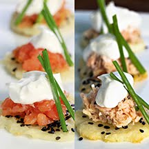 Thomas Keller's 'Smoked Salmon on Sesame Crisps' 2 Ways (GF)