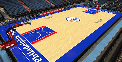 NBA 2K14 76ers Court Mod HD Texture