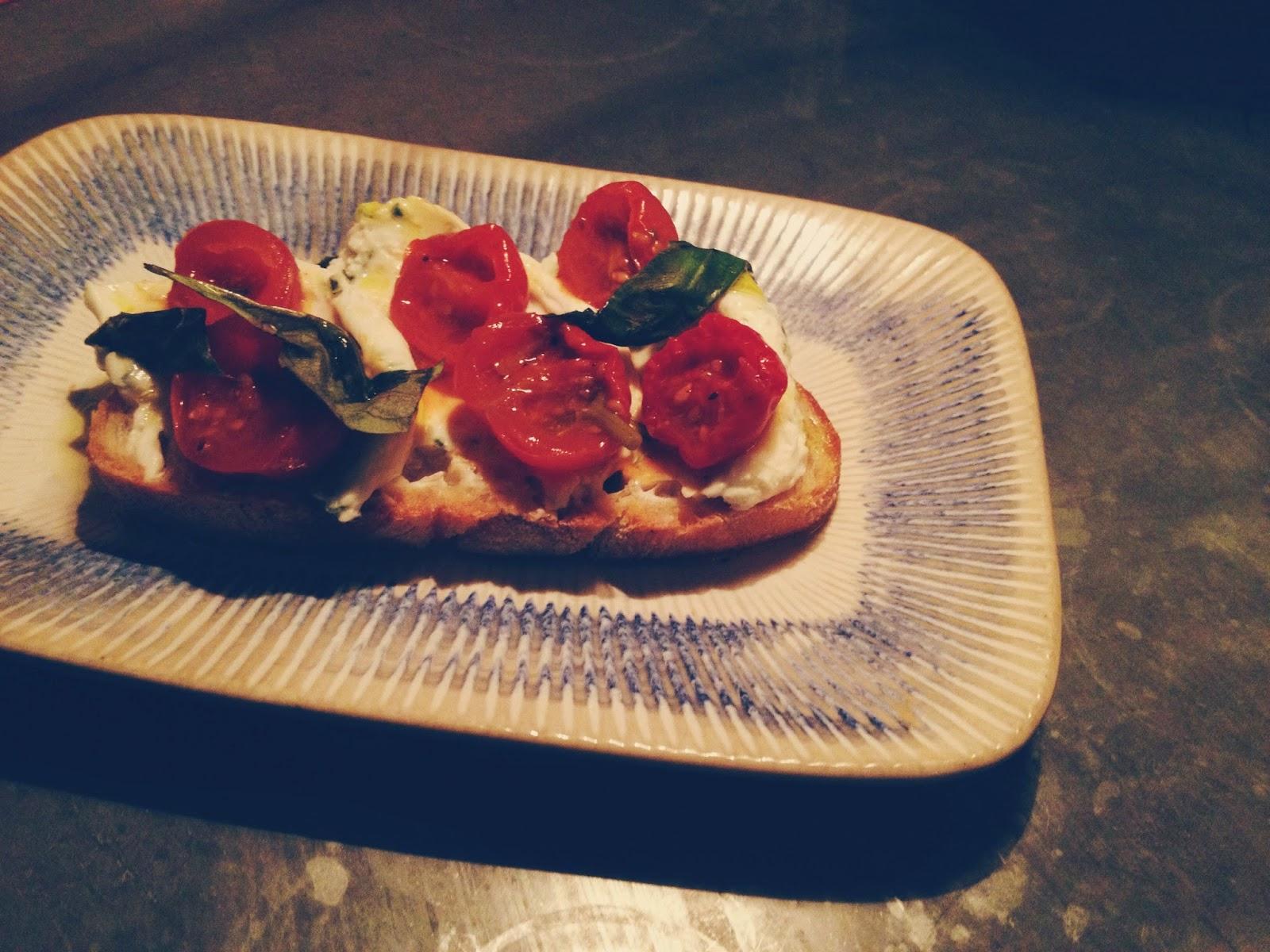 Jamie's Italian Aberdeen restaurant review ricotta bruschetta