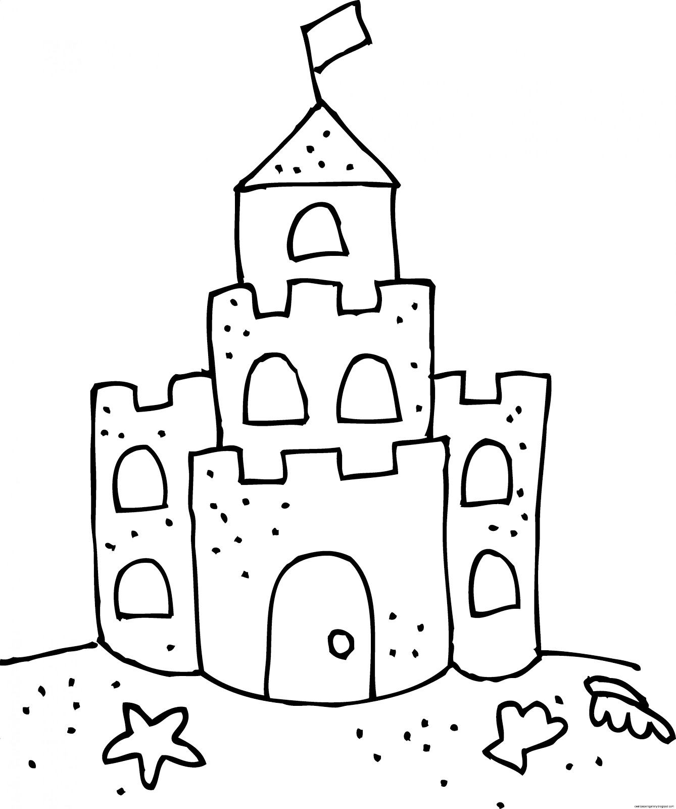 sand castle clip art black and white wallpapers gallery