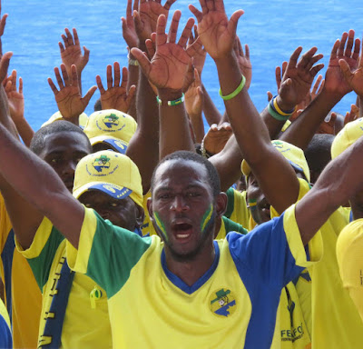 Gabon fans at Afcon 2017.