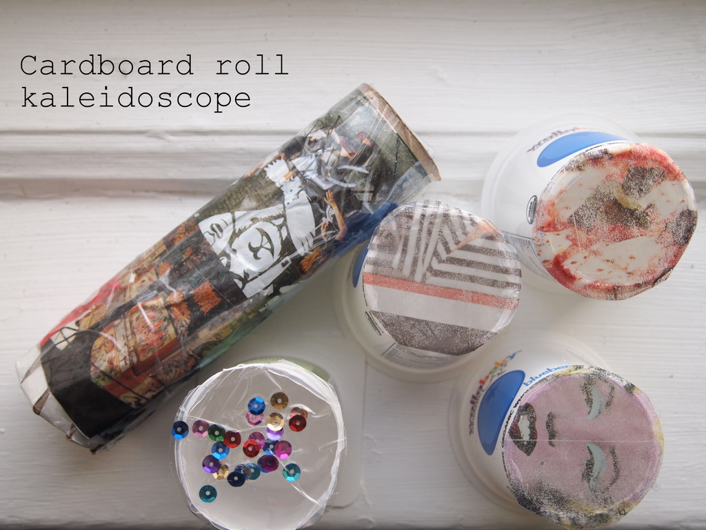 Crapty Fridays Diy Cardboard Roll Kaleidoscope Pink Stripey Socks