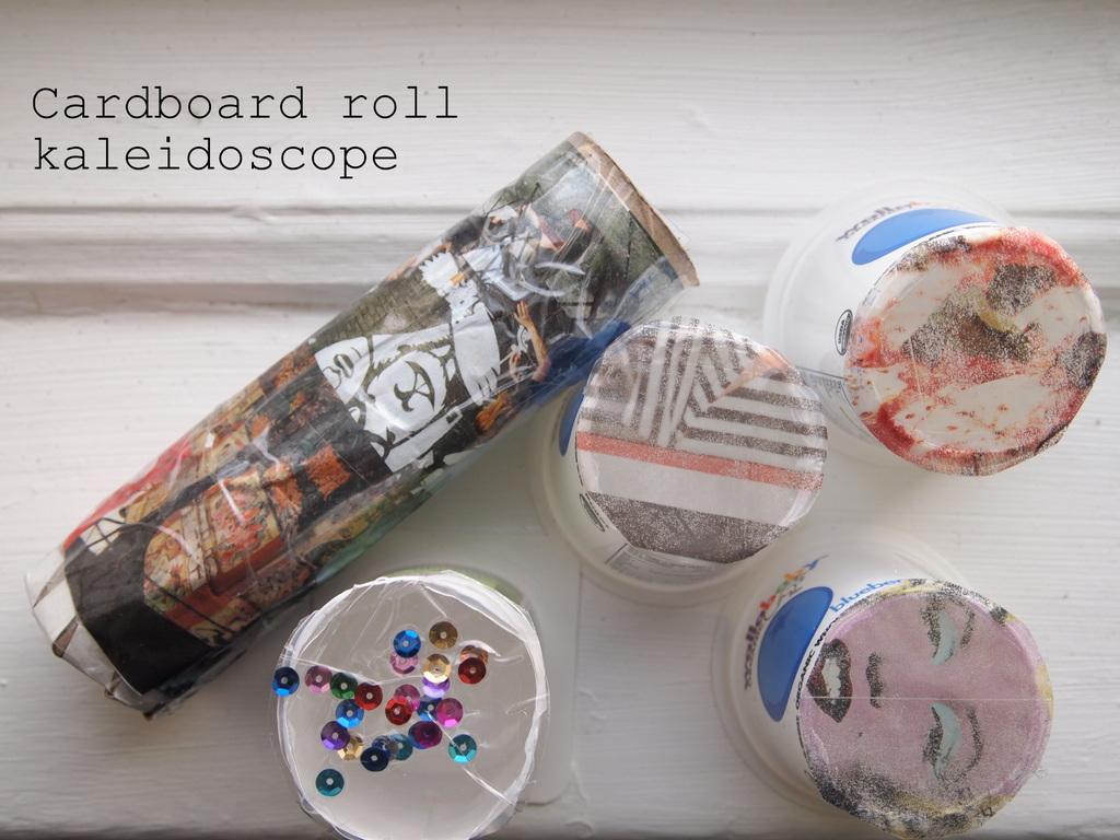 Crapty Fridays Diy Cardboard Roll Kaleidoscope