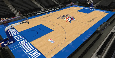 NBA 2K14 Oklahoma City Thunder Court HD Texture Mod