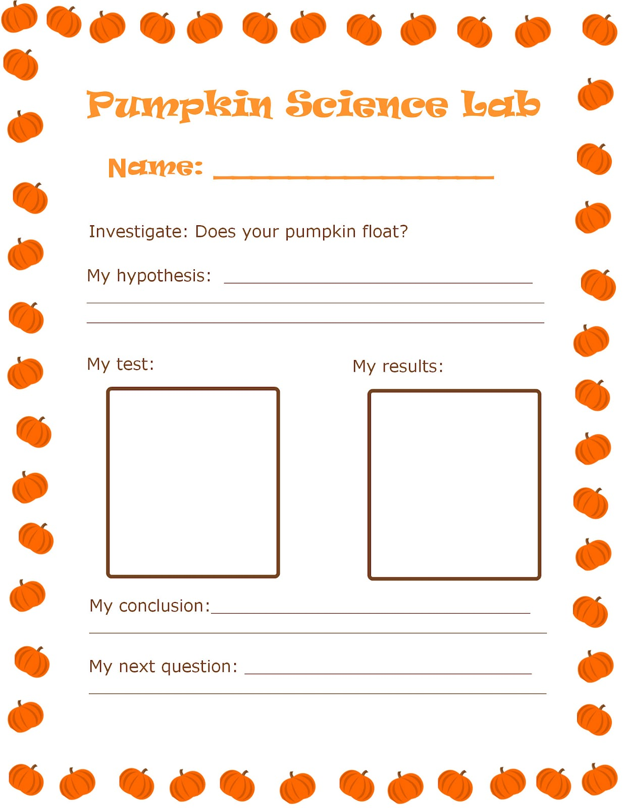 Pumpkin Science Experiment For Preschoolers Kindergarten
