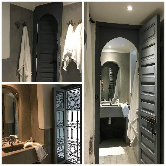 Salle de bain tadelakt / Suite Omani / Linge de maison V.Barkowski / Riad Dar Kawa / No-Mad /