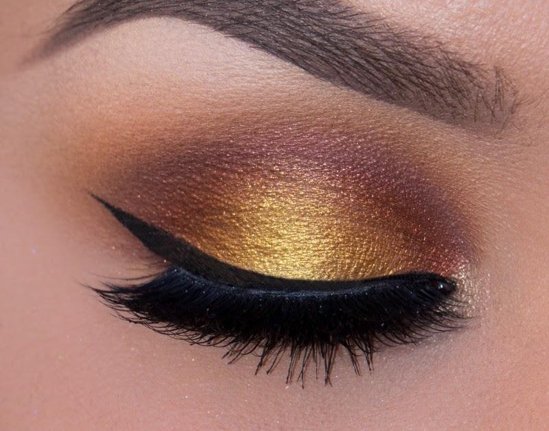 Copper Gold Eyes Makeup Full Tutorial B Amp G Fashion