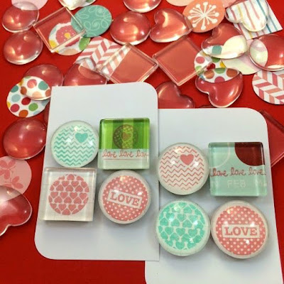 WahSoSimple's Glass Marble Magnets for Valentine's Day