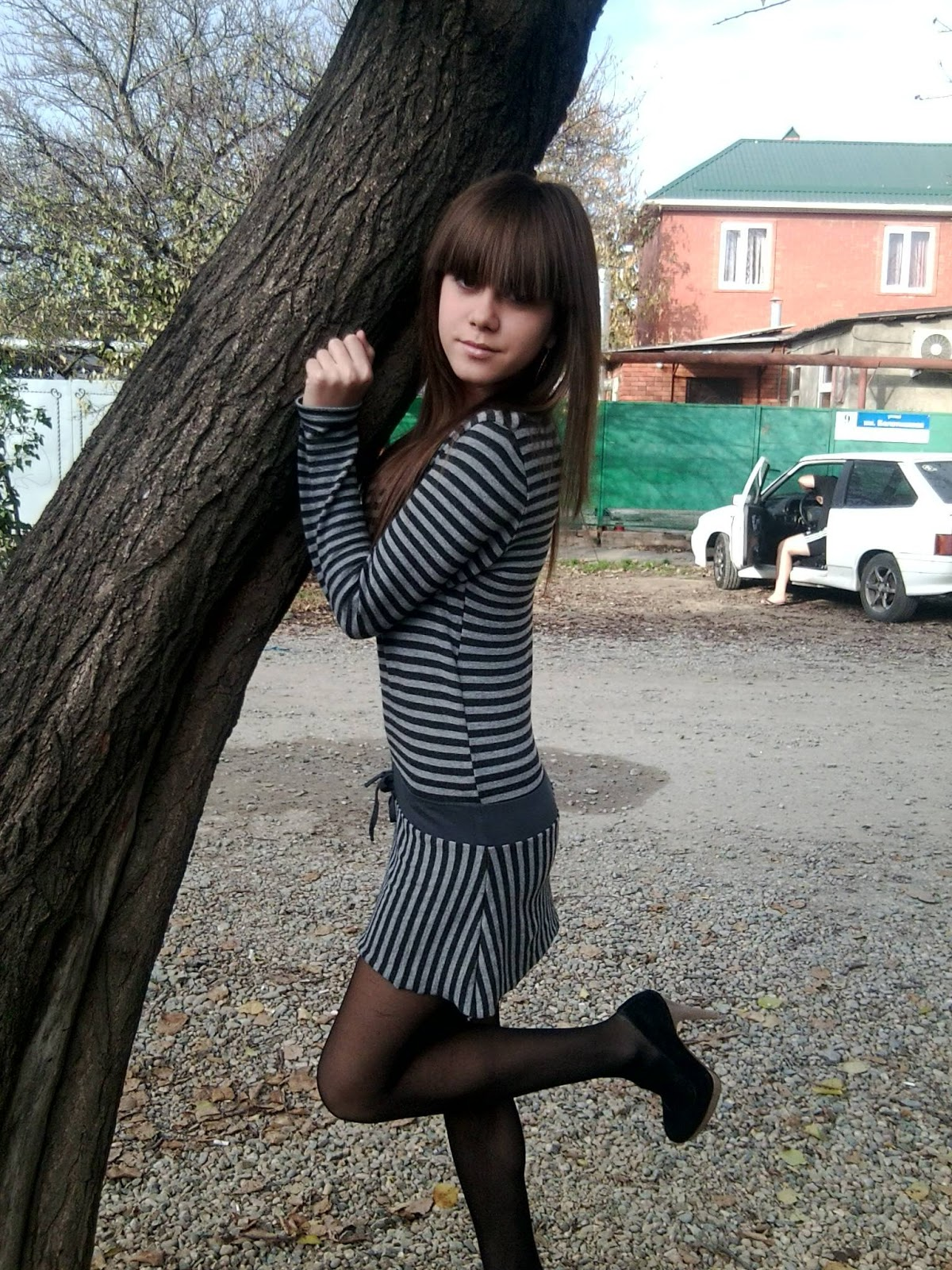 Amateur Teen In Black Pantyhose 2  Pantyhose Fashion Blog-2074