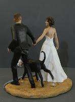 cake topper originali sposi per mano sul lungomare caon cane orme magiche