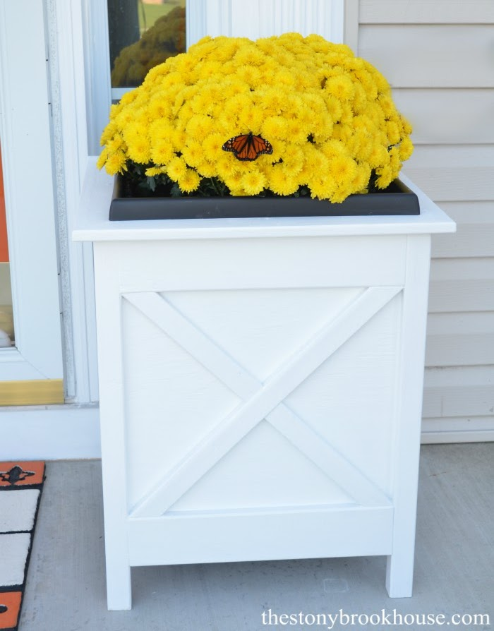 DIY Porch Planters Finished