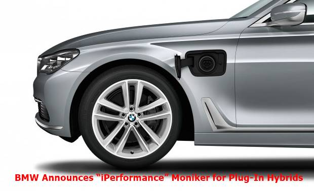 "BMW Announces ""iPerformance"" Moniker for Plug-In Hybrids"