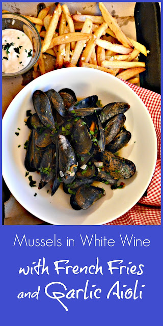 Mussels make the quickest dinner. Steamed with white wine and garlic, they really are so easy. And of course they are even better with fries! #mussels #fries #www.thisishowicook.com