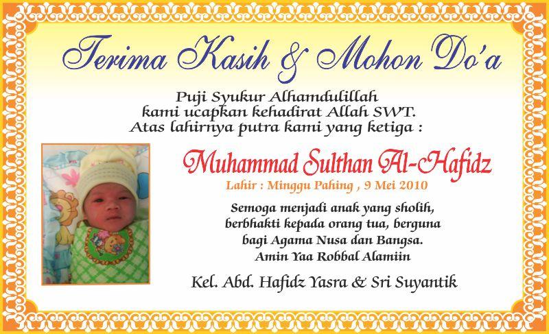 Contoh Kartu Nama Kelahiran Bayi Contoh Baca