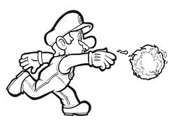 fireball mario coloring pages - photo#1