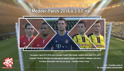 Patch PES 2016 Terbaru dari Emodder V3.0 Final