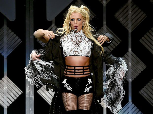Britney Spears in concert in Los Angeles, in the United Kingdom