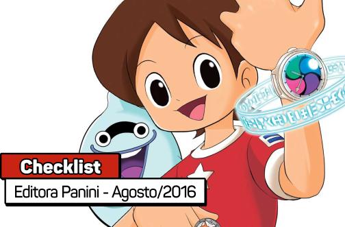 Checklist: Editora Panini - Agosto/2016