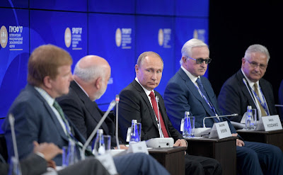 President Putin met with Russian and US business leaders.