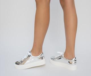 Pantofi Sport Mando Argintii