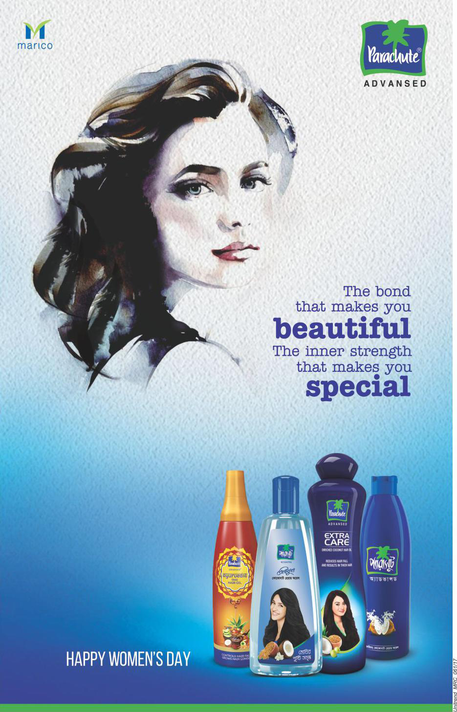 Client Marico Brand Parachute Hair Oil Campaign Happy Womens Day Agency Unitrend Mrc Media Press Creative Director Art Director Copy Visualizer