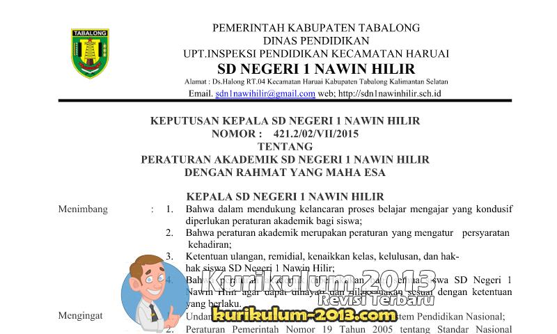 Download Contoh Peraturan Akademik Sekolah - Peraturan Akademik SD