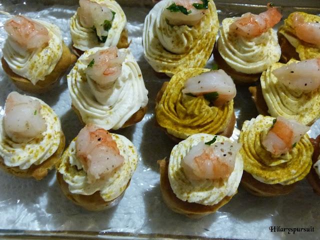 Mini-cupcakes aux crevettes