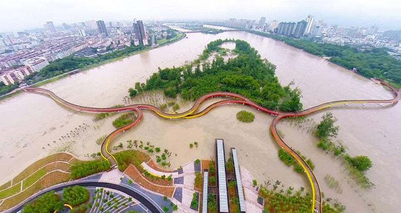 El parque del humedal Yanweizhou | China