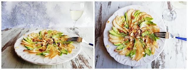 Карпачо от круши и авокадо - рецепта