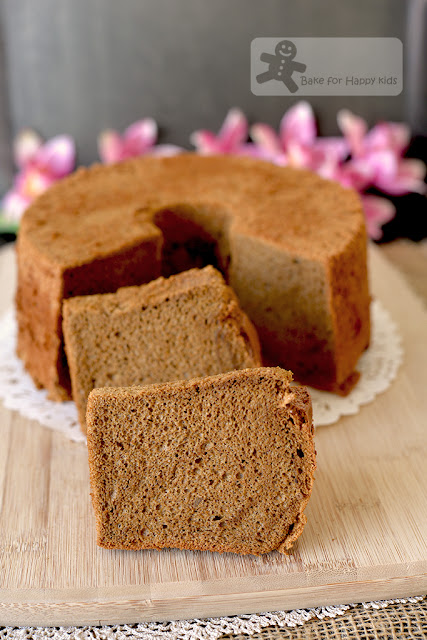 ultra soft dark brown sugar coffee chiffon cake