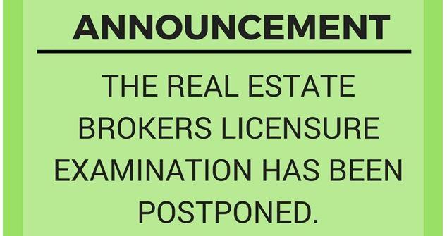 PRC postpones June 2018 Real Estate Broker board exam