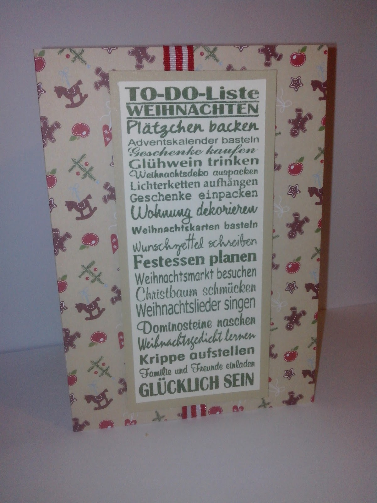Papierstube Berlin: To-Do-Liste Weihnachten