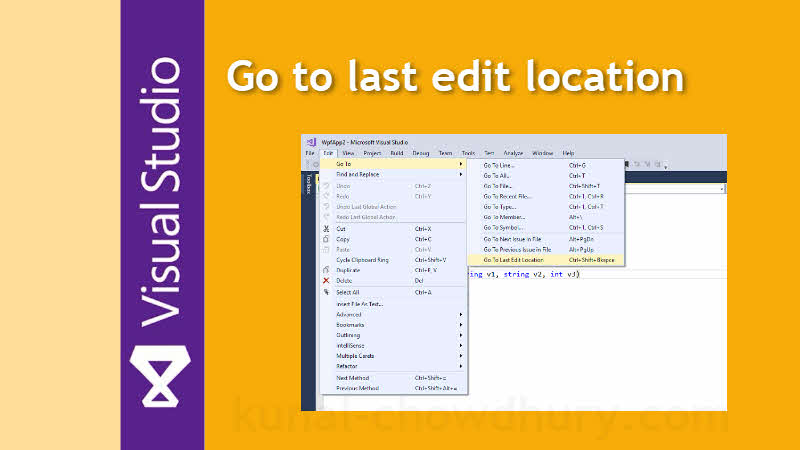 Visual Studio Productivity Tips: How to quickly navigate to last edit location