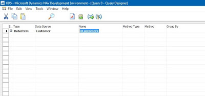 Create a Data Item in Query Object Dynamics Nav 2013