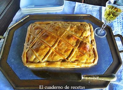 Empanada gallega de pisto