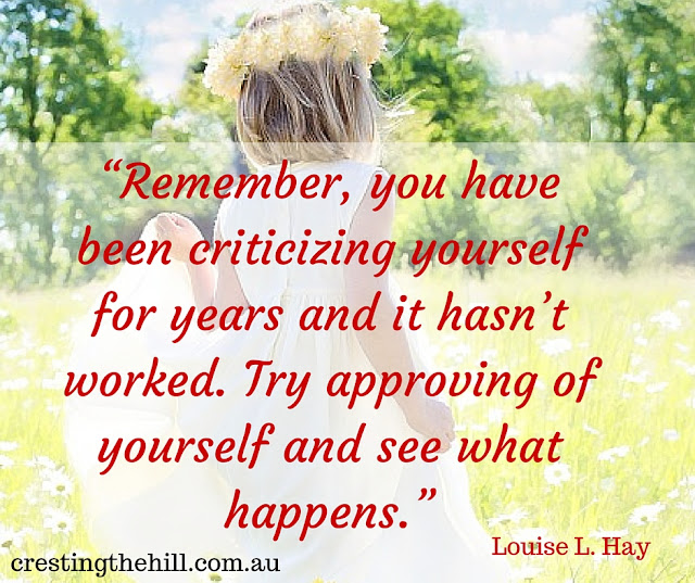 stop criticizing yourself and see what happens